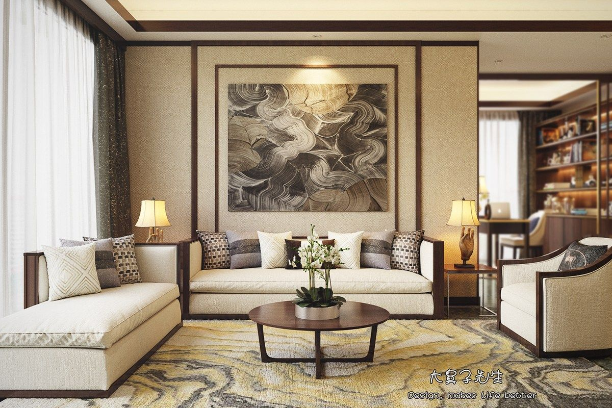 Beautiful Apartment Interior Design With Chinese Style Chinese