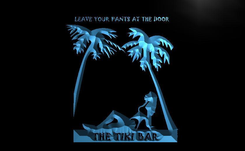 OPEN Tiki Bar Leave Pants LED Light sign in 2019 | Neon