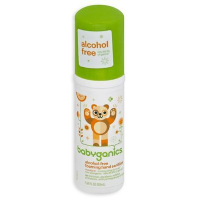 Babyganics 1 69 Oz On The Go Alcohol Free Foaming Hand Sanitizer