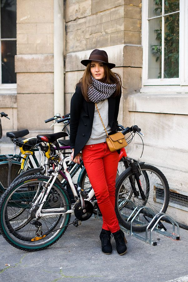 Red with neutrals