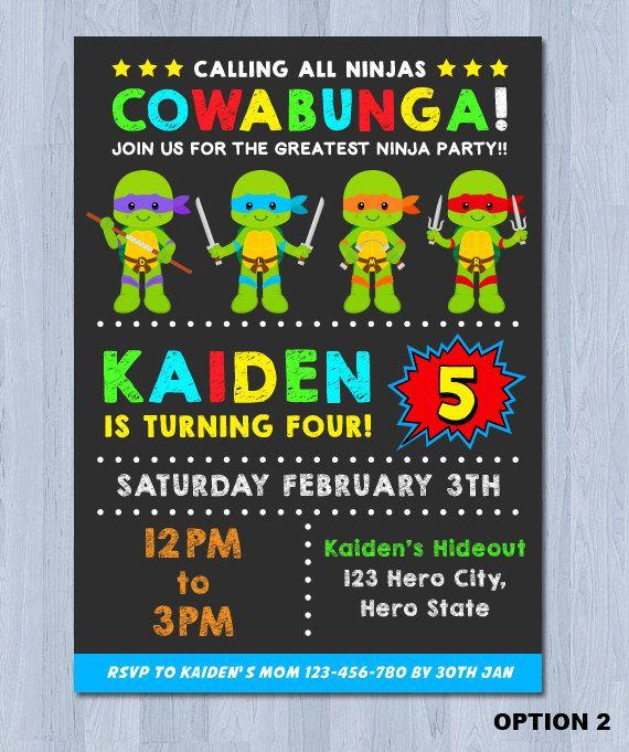Teenage Mutant Ninja Turtles Personalizados Infantiles