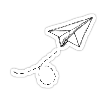 Paper Airplane 9 Sticker By Yopedro Paper Airplanes Fun Stickers Paper