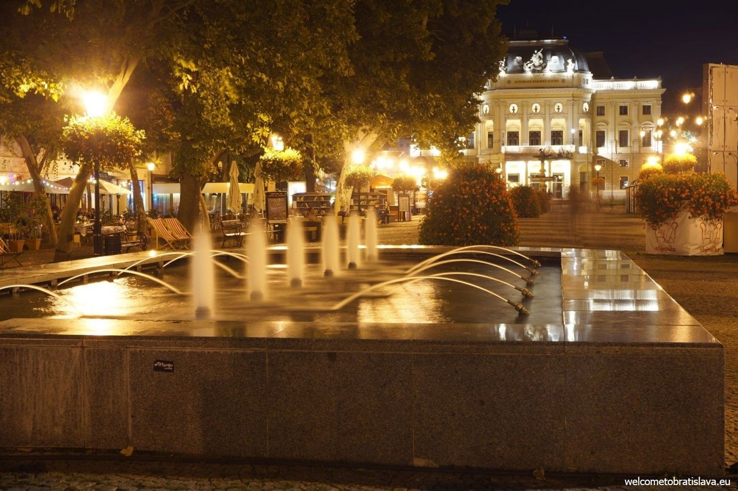 BRATISLAVA BY NIGHT FREE TOUR - WelcomeToBratislava | WelcomeToBratislava - The Slovak National Theater