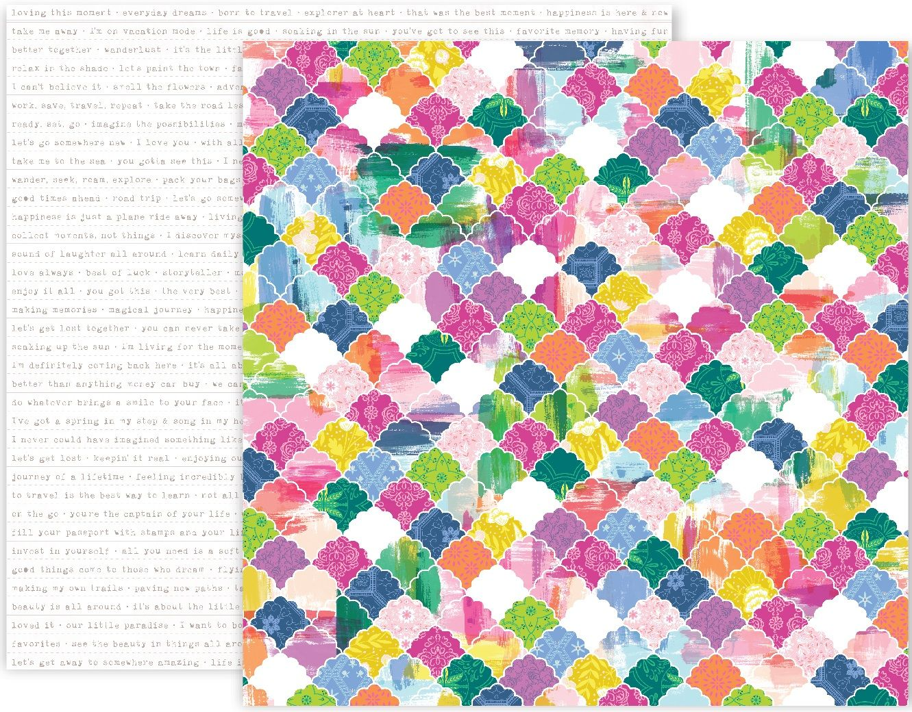 One 12 X 12 Double Sided Paper Printed On Bright White 65 Lb Heavyweight Paper Our Patterned Papers Feel Pink Paislee Patterned Paper Coordinating Patterns