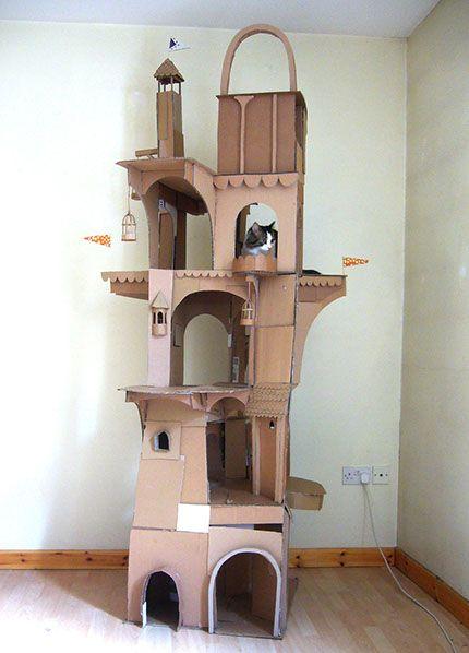 Prefabcat Cardboard Cat Tower Maison De Chat En Carton