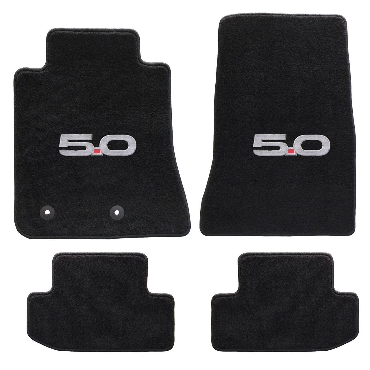 Ford Mustang 2015 On 4pc Mats Black 5 0 Logo Heavy Plush