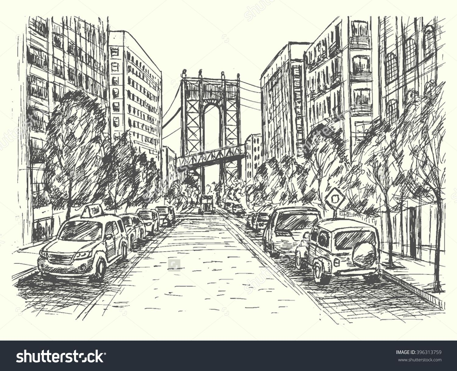Perfect Road Scene Drawing Ornament - Electrical Diagram Ideas ...