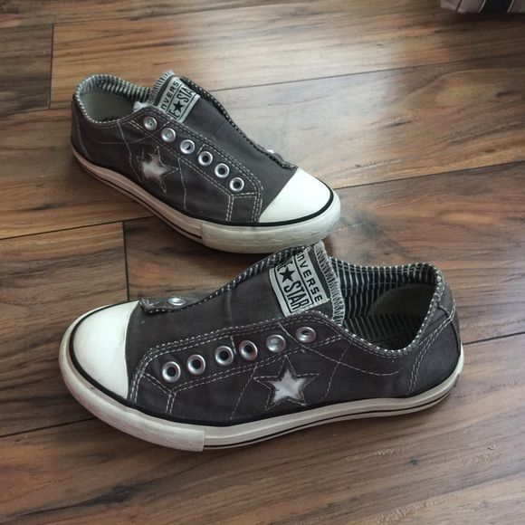 ff9b52542c11 Adult Converse All Star Laceless Sneakers Canvas upper. Laceless design  offers a trendy appearance. All Star patch. Elastic inserts ensure easy on  and off.