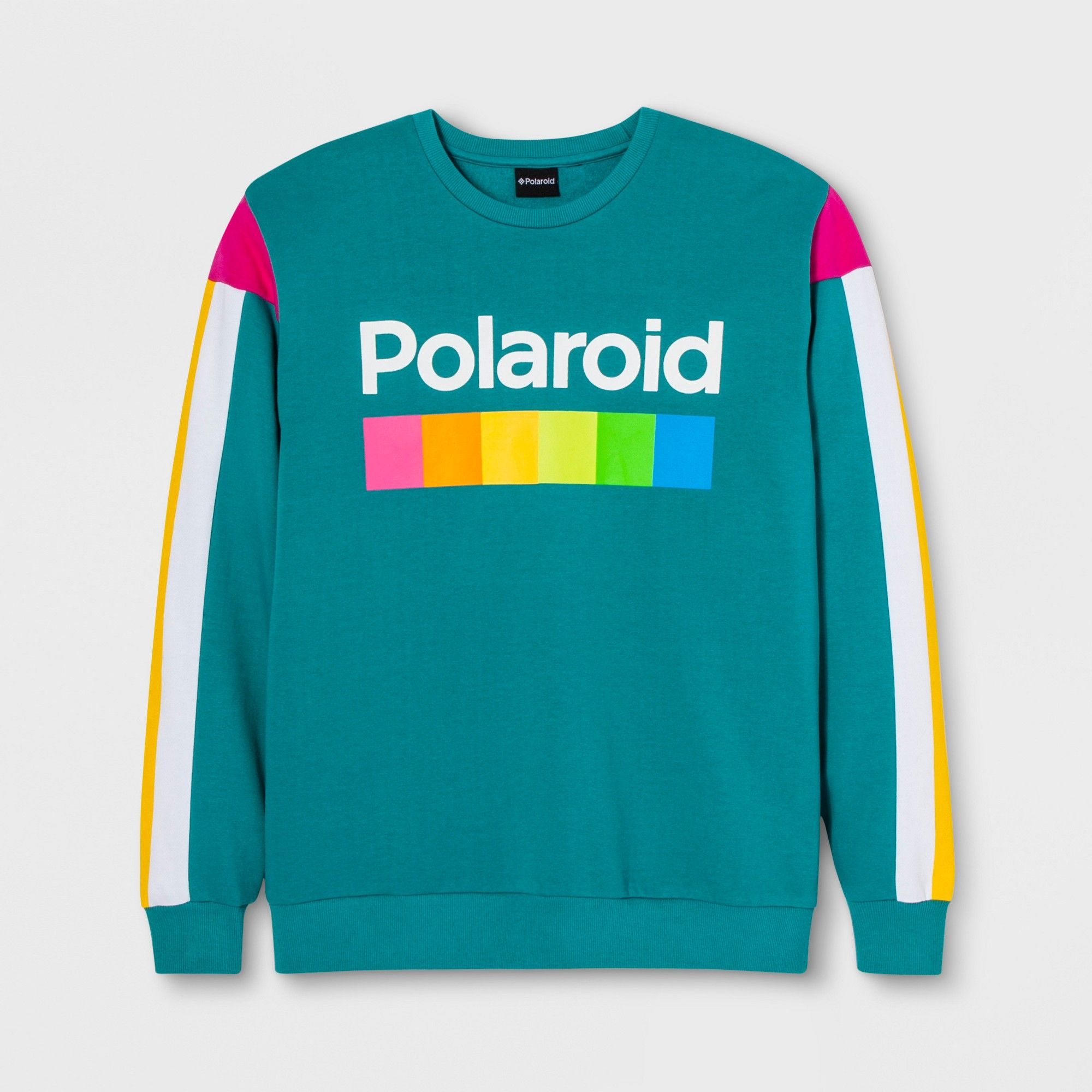 516f7bdd2d2b2 Men's Long Sleeve Polaroid Fleece Crew Pullover Sweatshirt - Teal XL ...