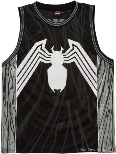 27bcf6b11168 Officially Licensed Marvel Venom Symbol Spider-Man Jersey Tank Top S ...