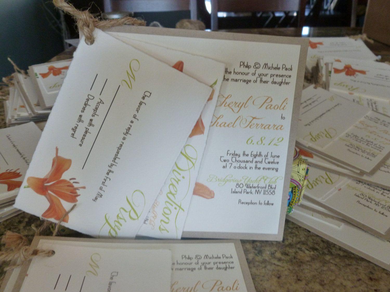 Tiger Lily wedding invitation | Wedding Ideas | Pinterest | Unique ...