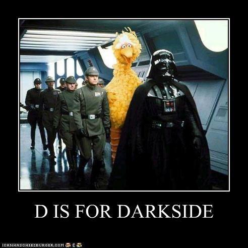 D Is For Darkside Star Wars Humor Star Wars Memes Star Wars Pictures