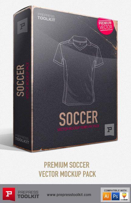 Download Football Soccer Sports Pack Vector Mockup Templates Prepress Toolkit Uniformes Esportivos