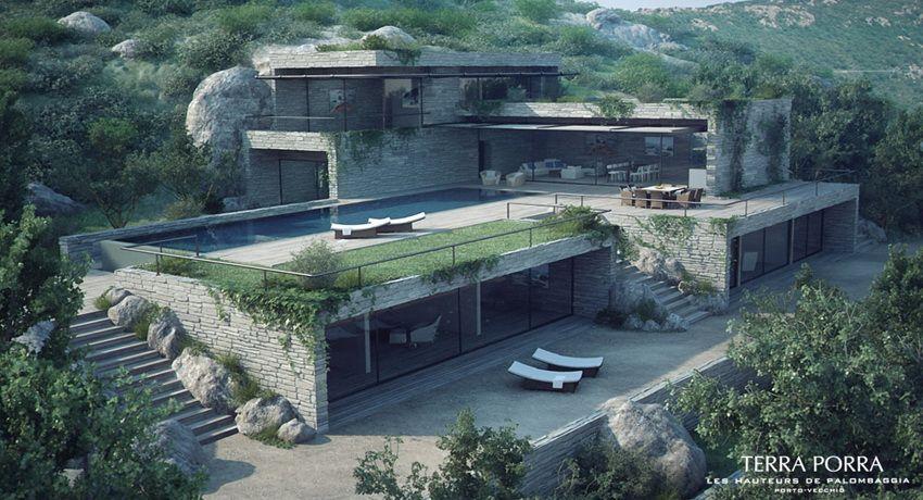 Corsican Mountain View Villas Visualized