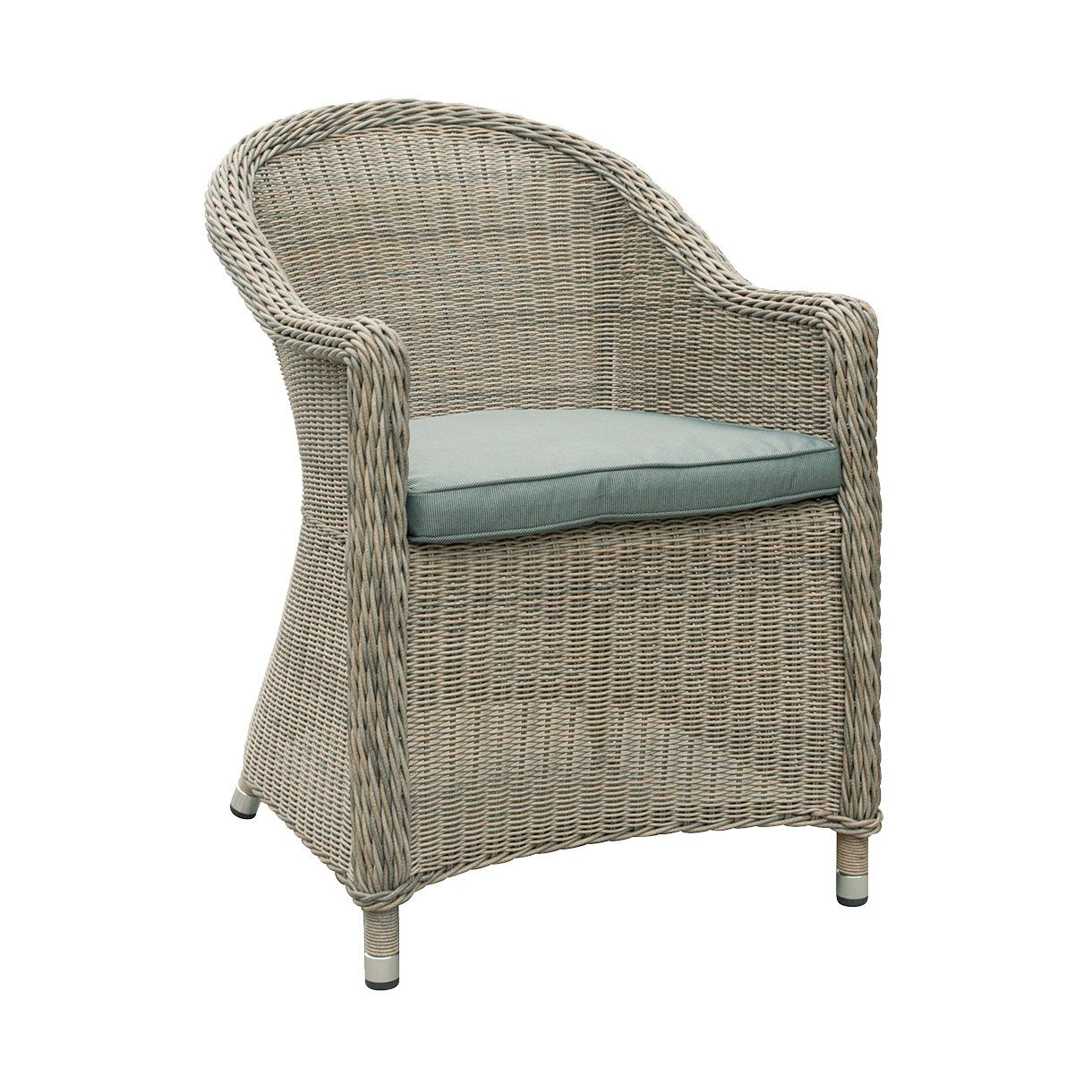 Oseasons hampton rattan arm chair with round back in chic