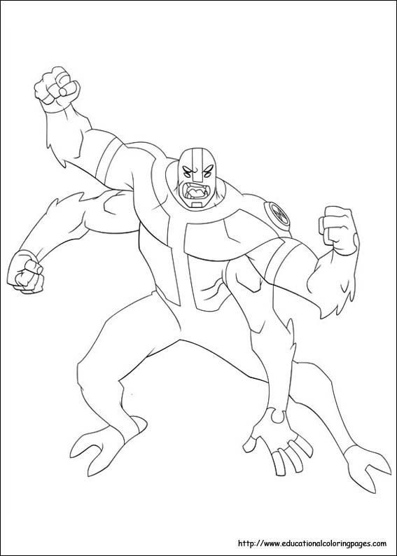 Ben 10 Coloring Pages Free For Kids สม ดระบายส