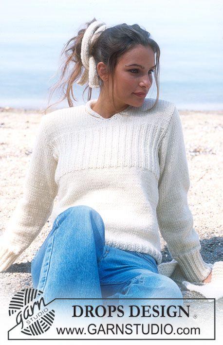 DROPS Pullover in Alaska ~ DROPS Design | I Could So Knit, Crochet ...