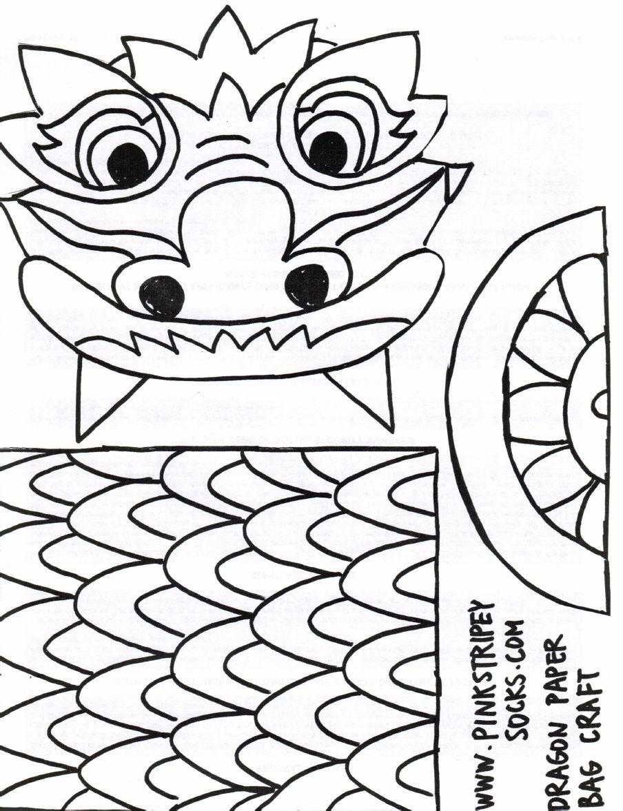 Chinese New Year Paper Bag Craft Template | preschool | Pinterest ...