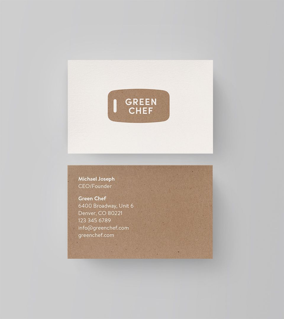 Green Chef business card | Business Cards | Pinterest | Green chef ...