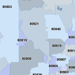 Colorado Springs Co Zip Code Map And More Zip Code Map Coding Zip Code