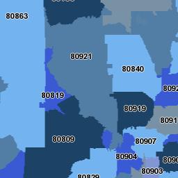 zip code map colorado springs