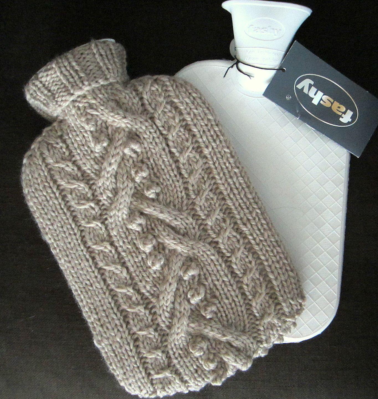 tricoter housse bouillotte