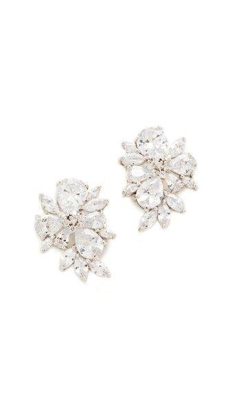 Pear Amp Marquis Cluster Stud Earrings Essential