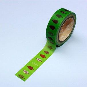 Washi Tape verde con arbolitos