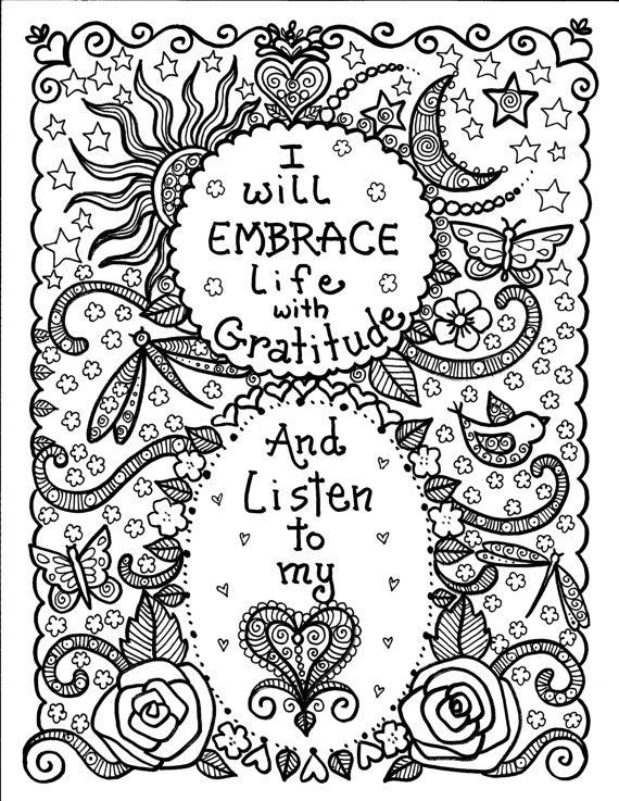 Instant Download BE BrAvE Coloring Book By ChubbyMermaid Zentangle Pages Colouring Adult Detailed