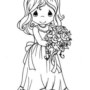 Precious Moments Maid Of Honor Precious Moments Coloring Page Maid Of Honor Pr Precious Moments Coloring Pages Princess Coloring Pages Mermaid Coloring Pages
