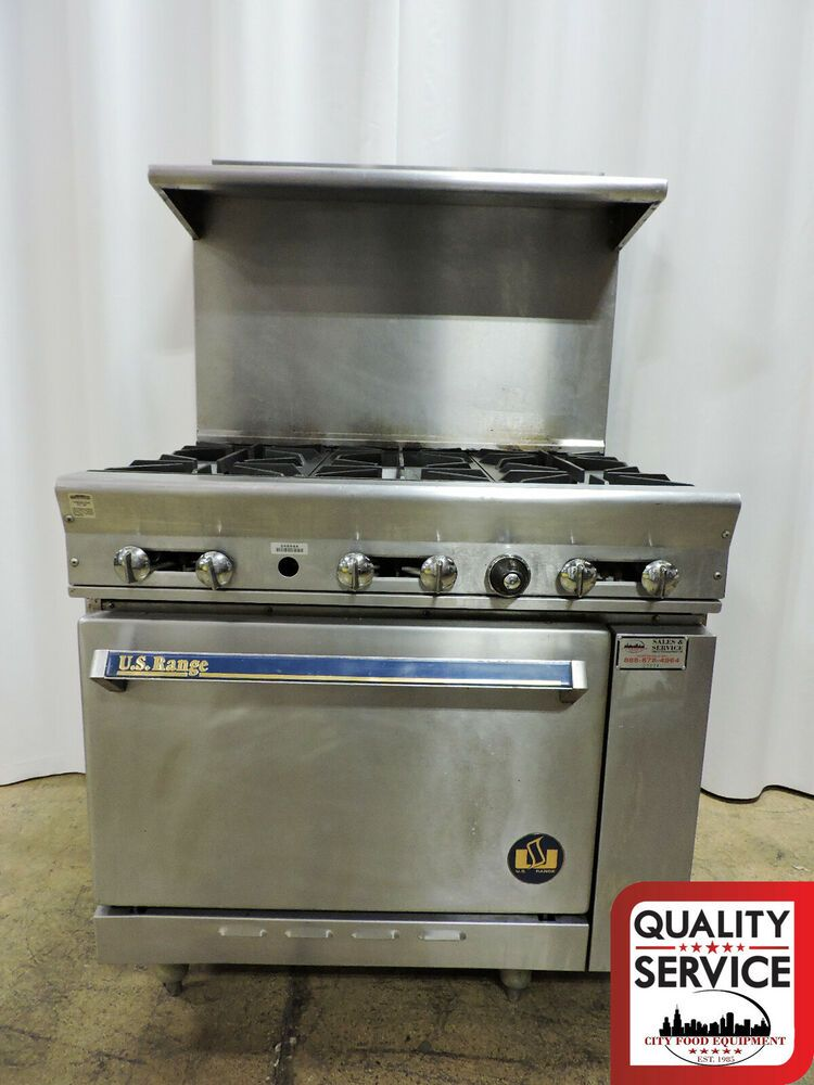 Us Range P 6 26 Commercial 6 Burner Range W Standard Oven Nat Gas Usrange Restaurant Equipment Burners Oven