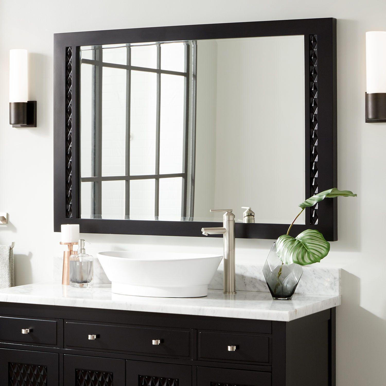 Thorton Mahogany Vanity Mirror Black Black Bathroom Mirrors Vanity Bathroom Mirror