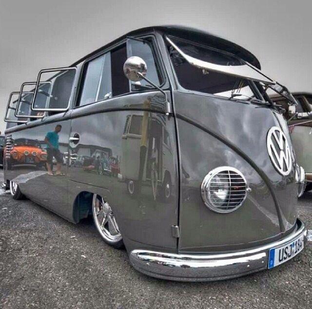 vw camper cool grey pimped to the max vintage vw camper vans pinterest vw vw bus and. Black Bedroom Furniture Sets. Home Design Ideas