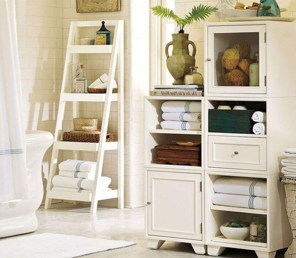 Bathroom Towel Ladder Storage | Bathroom Utensils | Pinterest ...