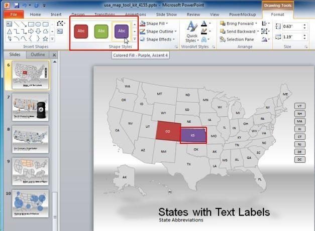 US Map PowerPoint Template | PowerPoint | Pinterest