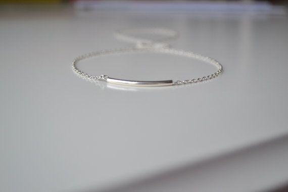 Sterling Silver Bar Bracelet Sterling Silver by RaRaBijoux on Etsy