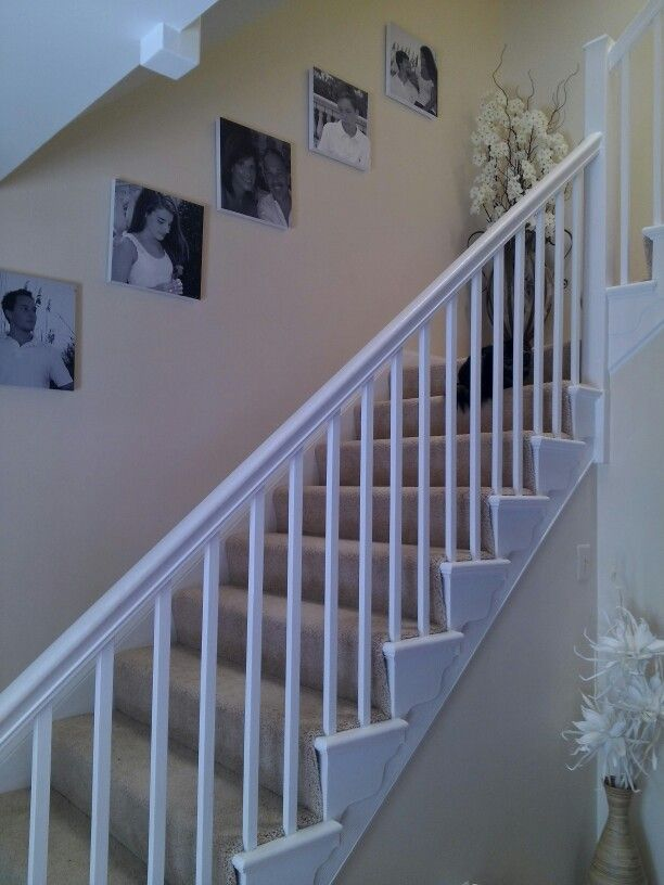 Family wall with canvas prints