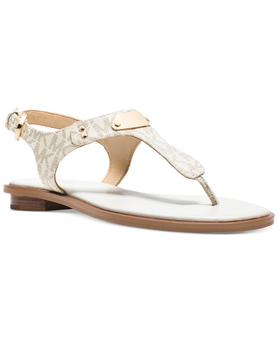 6a73e6acae MICHAEL Michael Kors Shoes, MK Plate Flat Thong Sandals - Shop All - Shoes  - Macy's