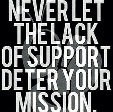 Never Let The Lack Of Support Deter Your Mission Family Support Quotes Supportive Friends Quotes Support Quotes