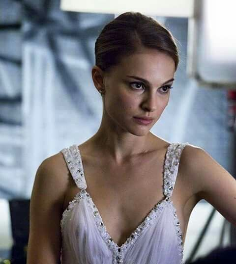 3674258407 Natalie Portman ready for bed in a draped white seethrough sheer transparent  slip negligee lingerie braless, star of The Professional, Star Wars, ...