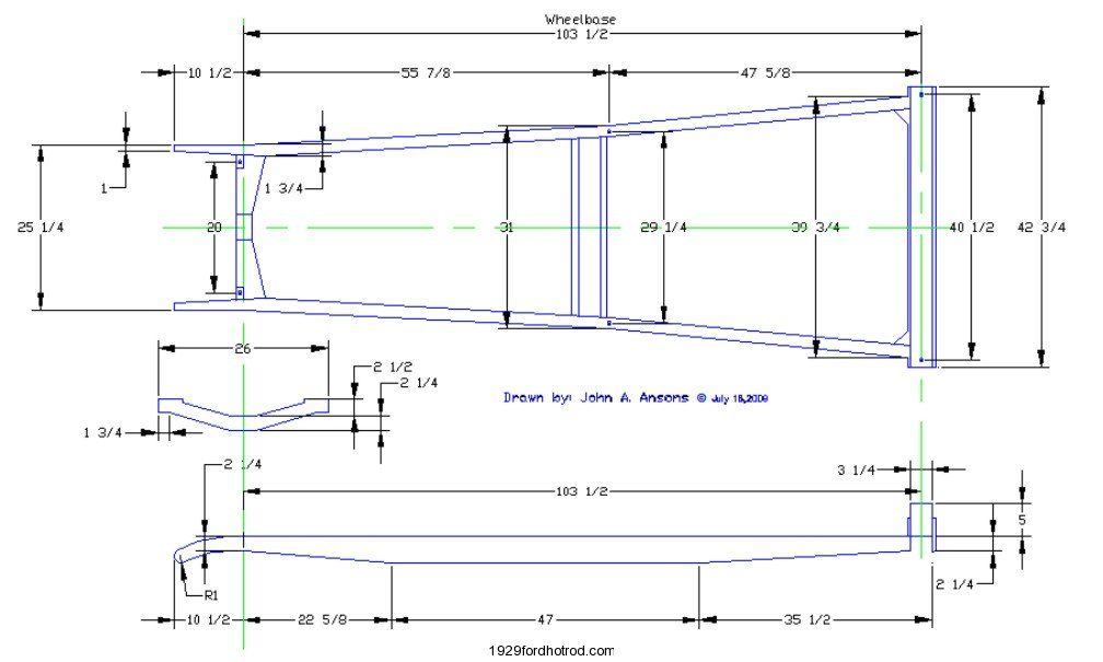 Model A Ford perimeter Frame Measurements | Ford model A | Pinterest ...