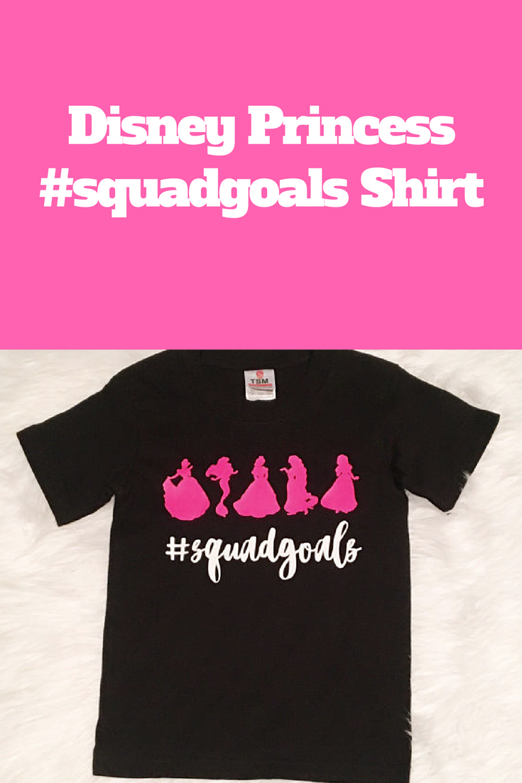 Awesome disney princess squadgoals tshirt for kids and adults from