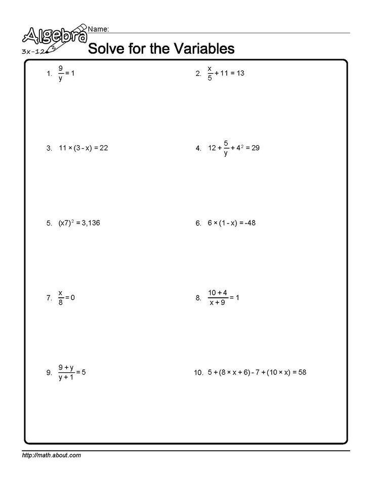 Algebra Algebra Worksheets Writing Inequalities Algebra