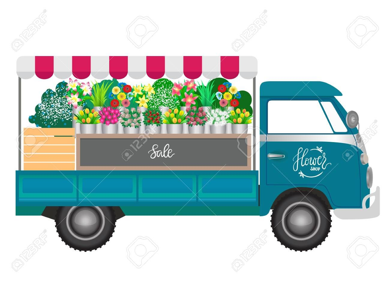 Flower Delivery Truck Clipart Google Search Monster Truck Room