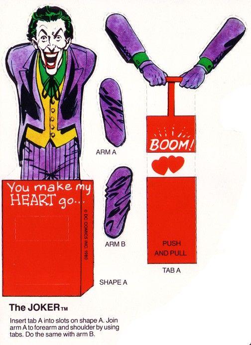 The Joker Friends Valentines Valentines Diy Valentines Cards