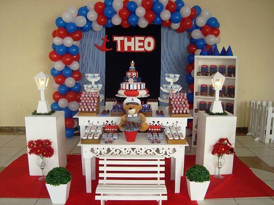 Decorao de festa de aniversrio infantil marinheiro decorao de decorao de festa de aniversrio infantil marinheiro thecheapjerseys Image collections