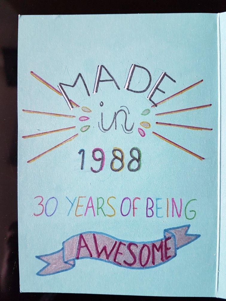 jarig 30 Jarig 30 jaar | handlettering inspiratie | Pinterest jarig 30