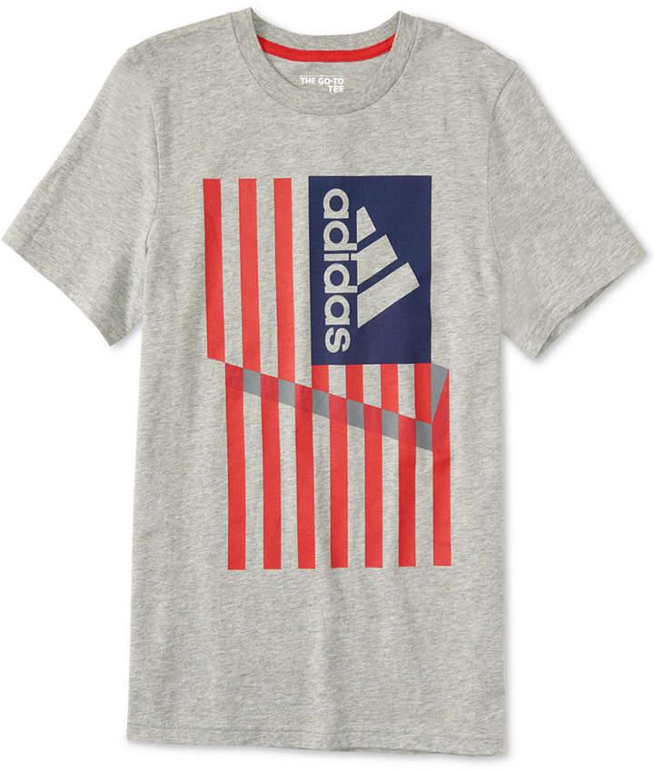 21d4801b7d8 adidas Graphic-Print Cotton T-Shirt