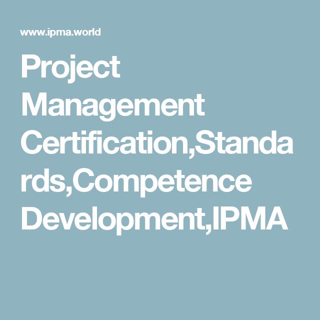Project Management Certificationstandardscompetence Development