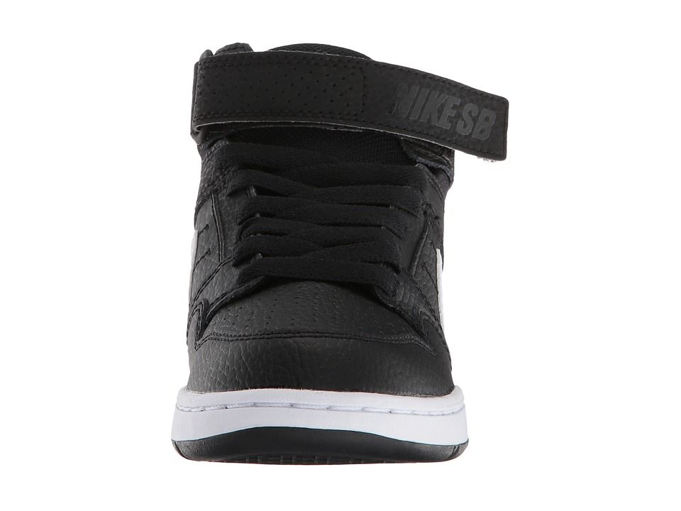 f83f5965b319 Nike SB Kids Mogan Mid 2 Jr (Little Kid Big Kid) Boys Shoes Black White